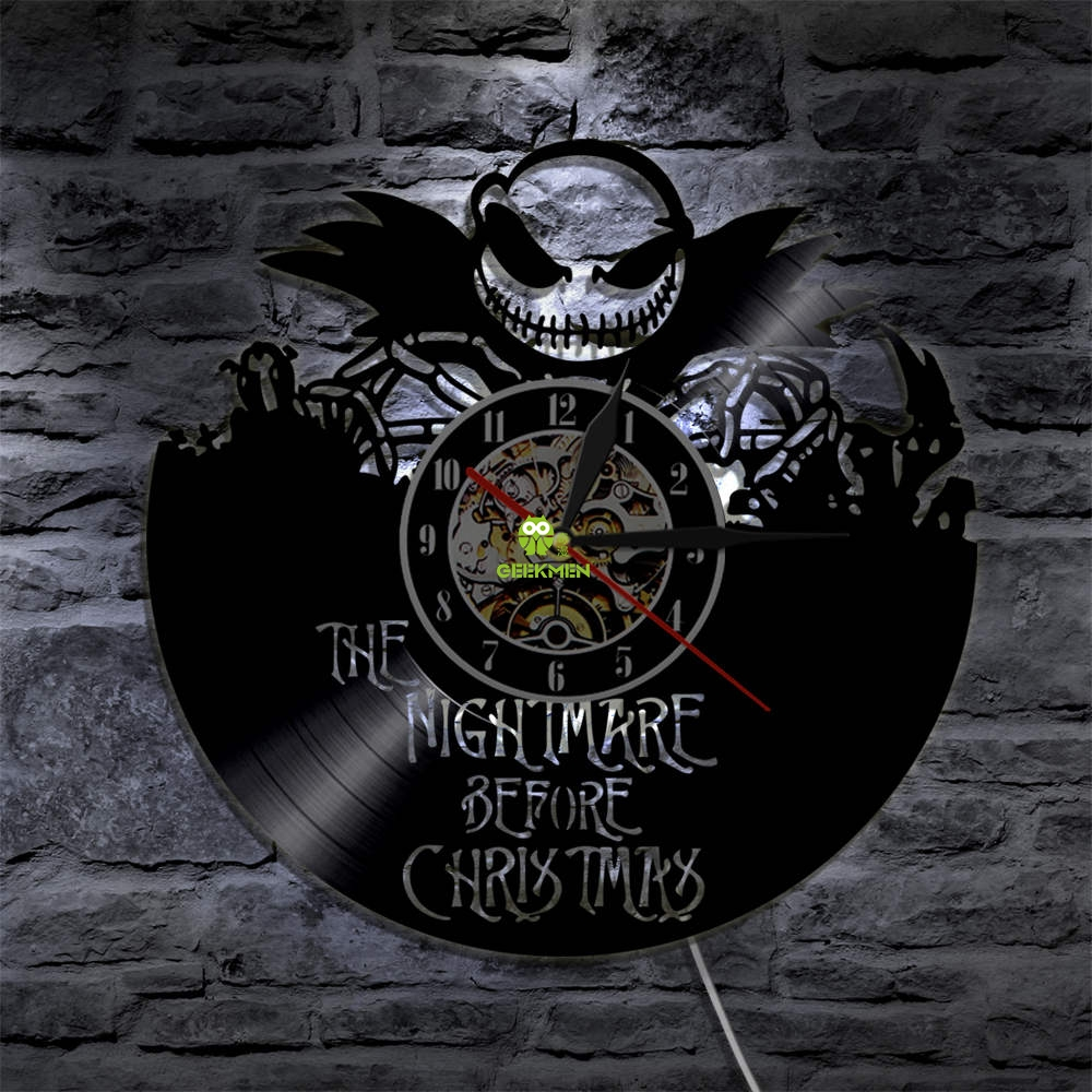 The Nightmare Before Christmas Wall Clock Jack Skellington and Sally ...