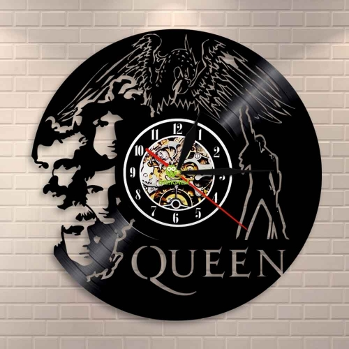 Rock Band Queen Wall Clock Music Vinyl Record Wall Clock