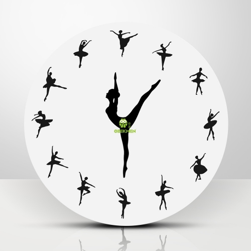 Ballerina Wall Clock Ballet Dancing Girl Needle Hand Wall Watch