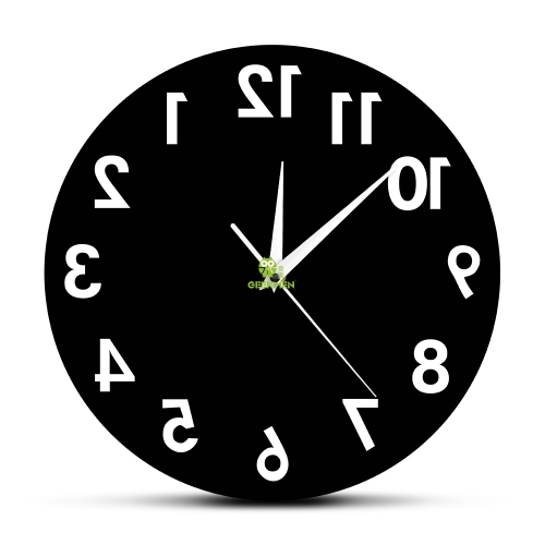 Reverse Wall Clock Unusual Numbers Backwards Modern Decorative Clock Watch