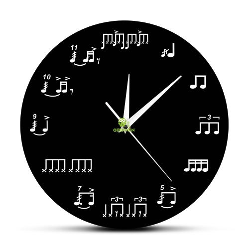 Sheet Music Notes Wall Art Music Room Wall Decor Wall Clock Piano Treble Staff Decorative Art Clocks Musician Gift For Teachers